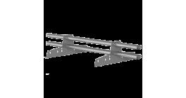 Комплект трубчатого снегозадержания BORGE 3 м для металлочерепицы, профнастила и битумной кровли, цинк фото