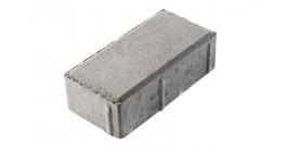 Тротуарная плитка ВЫБОР Брусчатка 7П.6 серый, 200*100*60 мм фото