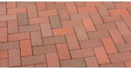 Тротуарная клинкерная брусчатка Feldhaus Klinker P403DF gala flamea, 240*118*52 мм фото