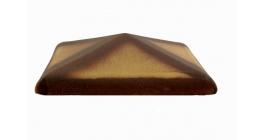 Колпак для забора ZG Clinker C38 желтый тушевой 380*380 фото