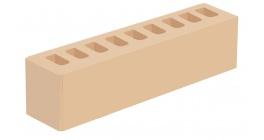 Кирпич керамический облицовочный пустотелый Голицынский КЗ Слоновая кость гладкий 250*60*65 мм фото