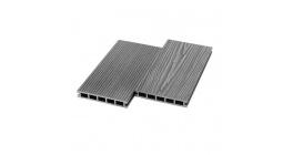 Террасная доска ДПК пустотелая UnoDeck Ultra Серый, 3000*150*24 мм фото