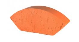 Кирпич керамический облицовочный фигурный полнотелый (радиальный усеченный) Lode Janka гладкий 189*120*65 мм фото