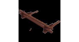 Комплект трубчатого снегозадержания BORGE 1 м для черепичной кровли, шоколадно-коричневый фото