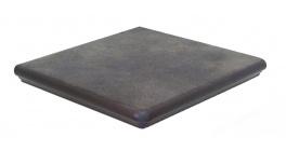 Клинкерная угловая ступень Interbau Nature Art 118 Lava schwarz, 320x320x9,5 мм фото