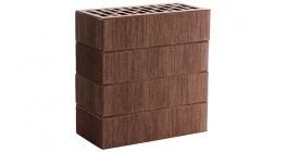 Кирпич керамический облицовочный пустотелый ЛСР Темно-коричневый тростник 250*120*65 мм фото