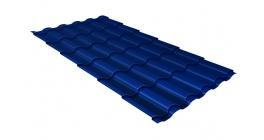 Металлочерепица Гранд Лайн Kredo Satin 0.5 RAL 5005 сигнальный синий фото