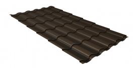 Металлочерепица Гранд Лайн (Grand Line) Kredo Velur20 0.5 RR 32 темно-коричневый фото