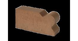 Кирпич керамический облицовочный фигурный полнотелый Lode Brunis F20 гладкий 250*120*65 мм фото