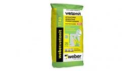 Штукатурка для предварительного выравнивания weber.vetonit TT 40, 25 кг фото