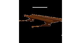 Переходной мостик BORGE RAL 8017 для черепичной и сланцевой кровли коричневый, 3 м фото