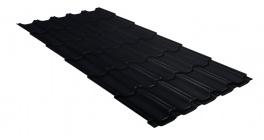 Металлочерепица Гранд Лайн (Grand Line) Kvinta Velur20 0.5 RAL 9005 черный фото