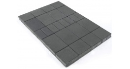 Тротуарная плитка BRAER Мозайка Серый, 60 мм фото
