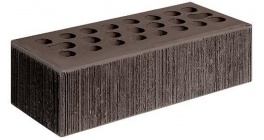 Кирпич керамический облицовочный пустотелый Керма Шоколад бархат 1NF 250*120*65 мм фото