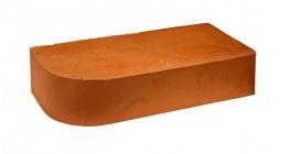 Кирпич керамический облицовочный радиусный полнотелый Terca Red гладкий 250*120*65 мм фото