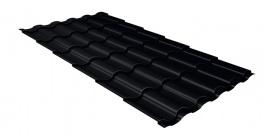 Металлочерепица Гранд Лайн (Grand Line) Kredo Velur20 0.5 RAL 9005 черный фото