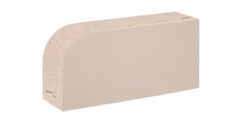Кирпич керамический облицовочный полнотелый Konigstein Санторини Белый 1НФ радиусный R60, 250x120x65  фото