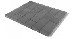 Тротуарная плитка BRAER Лувр Серый, 200*200*60 мм фото