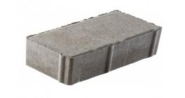 Тротуарная плитка Меликонполар Брусчатка 7П.8 серый, 200x100x80 мм фото