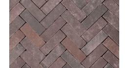 Клинкерная тротуарная брусчатка ручной формовки Penter Doris onbezand tumbled, 200х65х65 мм фото