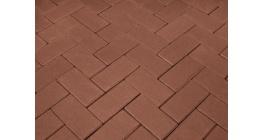 Брусчатка тротуарная клинкерная Penter rot, 200x100x80 мм фото