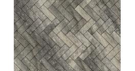 Тротуарная плитка ВЫБОР Паркет Листопад гладкий Антрацит, Б.4.П.6 фото
