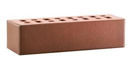 Кирпич клинкерный облицовочный пустотелый ЛСР Ноттингем красный флэшинг гладкий 250*85*65 мм фото