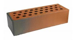 Кирпич керамический облицовочный пустотелый Terca Red flame редуцированный гладкий 250*85*65 мм фото