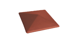 Клинкерный заборный оголовок Lode Libra, 445*445*90 мм фото