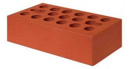 Кирпич керамический облицовочный пустотелый Керма Красный гладкий 0.7NF 250*85*65 мм фото