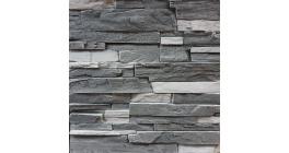 Искусственный камень Балтфасад Корунд темно-серый 500×100, 300×100 мм фото