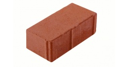 Тротуарная плитка МЕЛИКОН ПОЛАР Брусчатка 7П.8 красный 3%, 197x97x80 мм фото