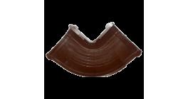 Угол желоба регулируемый 90-135 град.ТехноНИКОЛЬ (Verat) коричневый, D 125 мм фото