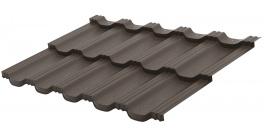 Металлочерепица Aquasystem Гетенборг Тёмно-коричневый матовый (RAL8019) фото