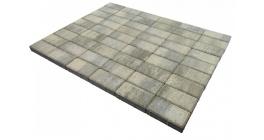 Тротуарная плитка Браер Прямоугольник Color Mix Туман, 200х100х40 мм фото