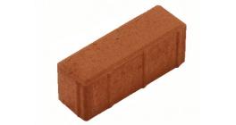 Тротуарная плитка Меликонполар Паркет 8П.8 красный, 210x70x80 мм фото