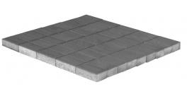 Тротуарная плитка BRAER Прямоугольник Серый, 200*100*60 мм фото