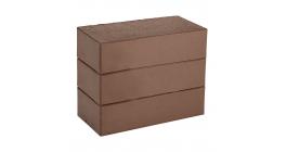 Кирпич керамический облицовочный полнотелый КС-керамик Темный шоколад гладкий 250*120*65 мм фото