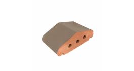 Перекрытие забора ZG Klinker коричневый, 170*110*65 мм фото