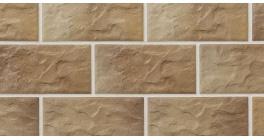 Цокольная плитка клинкерная Stroher Kerabig KS 14 braun-bunt рельефная, 302*148*12 мм фото