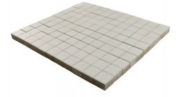 Тротуарная плитка BRAER Лувр Белый, 100*100*60 мм фото