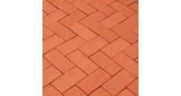 Тротуарная клинкерная брусчатка Lode LHL Kalahari темно-красный шероховатая, 200*100*47 мм фото