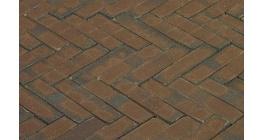 Клинкерная тротуарная брусчатка ручной формовки Penter Oliva wasserstrich 200х50х85 мм фото