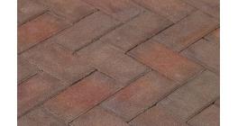 Клинкерная тротуарная брусчатка ручной формовки Penter Ravenna 200х100х70 мм фото