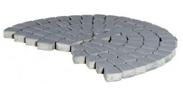 Тротуарная плитка BRAER Классико круговая Грифельный, 73*110*115*60 мм фото