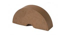Кирпич керамический облицовочный фигурный полнотелый (радиальный) Lode Brunis гладкий 250*121*65 мм фото