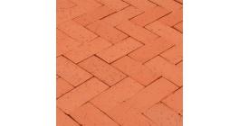 Тротуарная клинкерная брусчатка Lode LHL Staromejskij темно-красный шероховатая, 220*100*71 мм фото