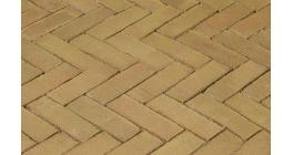 Клинкерная тротуарная брусчатка ручной формовки Penter Brons wasserstrich, 200х65х85 мм фото