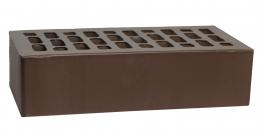 Кирпич керамический облицовочный пустотелый Вышневолоцкая керамика темно-коричневый гладкий с утолщённой стенкой, 250*120*65 мм фото