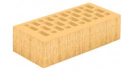 Кирпич керамический облицовочный пустотелый Голицынский КЗ Янтарь желтый береста 250*120*65 мм фото